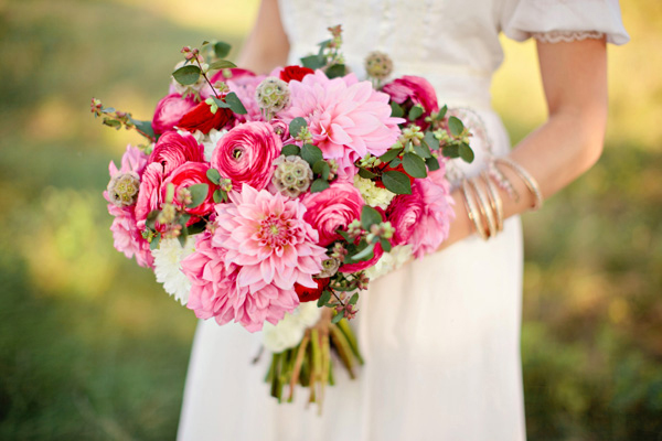 Berry-Pink-and-Red-Wedding-Bouquet