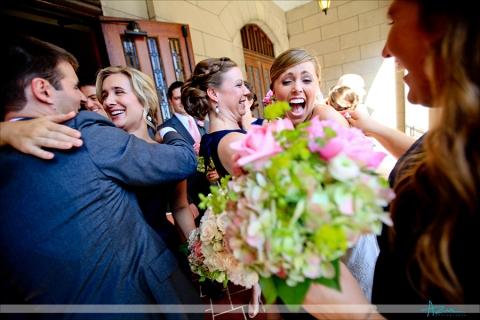 Brides excitement